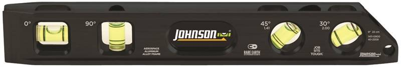 Johnson Level & Tool 1411-0900 Level Billet Mag 9In