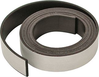 Master Magnetics 07011 Flexible Magnetic Tape, 30 in L X 1/2 in W X 0.06 in T