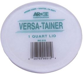 Argee Rg515/50 Bucket Lid, 4.65 In Dia, 1/4 In D, Plastic, For Use With Versa-Tainer 1 Qt Clear Container