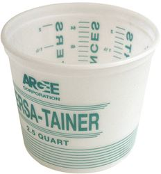 Argee Rg Series Versa-Tainer Pail, 2-1/2 Qt, 6-3/4 In W X 7-3/4 In H, Plastic, Clear