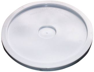 Argee Rg502Lg/50 Heavy Duty Bucket Lid With Gasket, 9-3/4 In Dia, 3/4 In D, Plastic, For Use With 2 Gal Pail