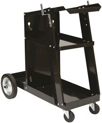 Forney Industries 332 Portable Welder Cart With Cylinder Rack, 3-Levels, 11-1/2 in Width x 27-1/2 in Height, Black