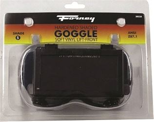 Forney Industries 55320 Lift-Front Oxy-Acetylene Welding Goggles, Clear Glass Lens