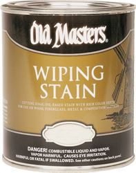 Old Masters 12016 Oil Based Wiping Stain, 0.5 pt Can, 500 sq-ft/gal, 120 Dark Walnut