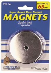 Master Magnetics 07222 Round Heat Resistant Magnetic Base, 2-5/8 in Dia X 3/8 in H, 65 lb