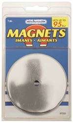 Master Magnetics 07223 Heavy Duty Round Base Magnet, 95 lb, Ceramic Ring