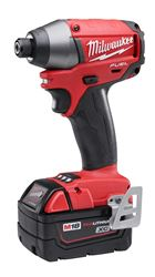 Milwaukee 2653-22 Cordless Impact Driver Kit, 18 V, Li-Ion, 0 - 3600 bpm