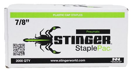 Crossfire Staplepac 0136044 Cap Staple, 7/16 In, 7/8 In Leg, 18 Ga