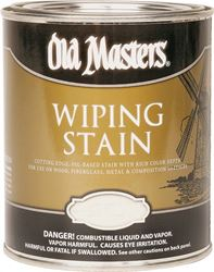 Old Masters 13004 Oil Based Wiping Stain, 1 qt Can, 500 sq-ft/gal, 130 American Walnut