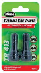 Slime 2080-A Tubeless Tire Valve, 1-1/4 in, Rubber