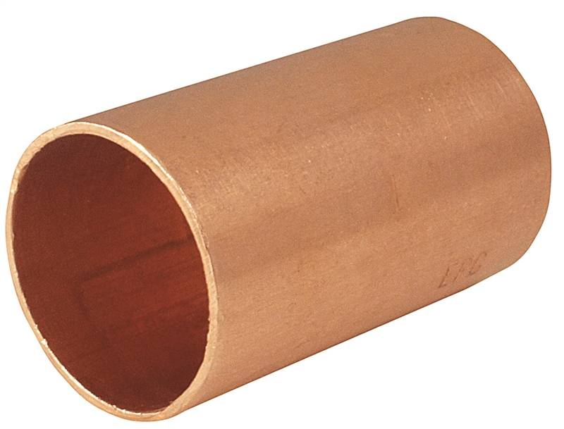 EPC 82500CP Pipe Coupling With Stop, 1/2 in, Copper