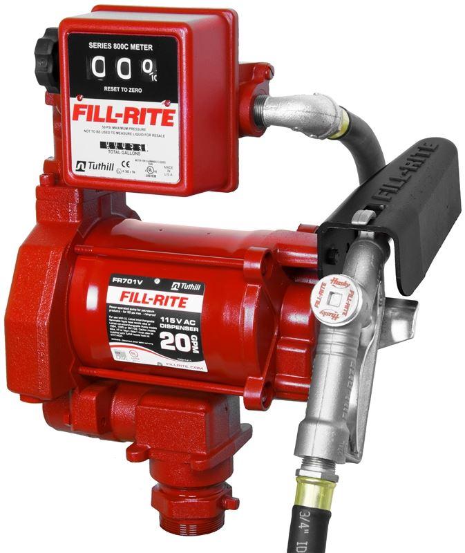 20 GPM 115VAC 1//3 HP Cast Iron Rotary Vane Fuel Transfer Pump