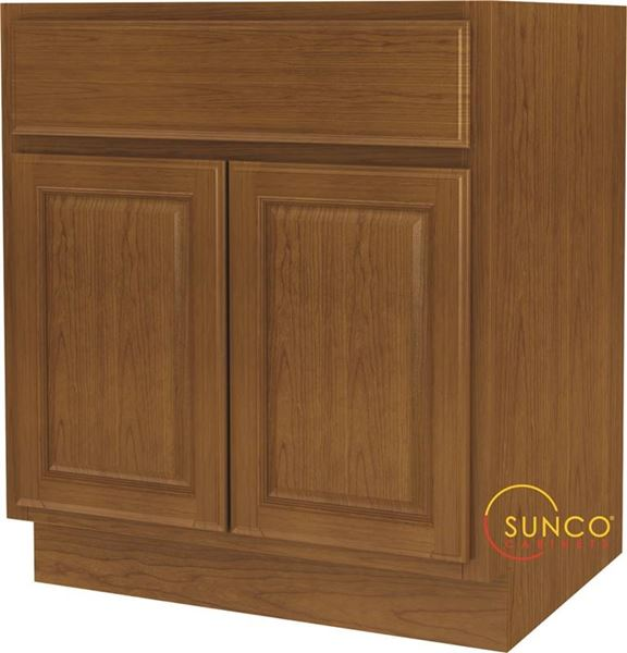 Randolph Double Door Wide Base Kitchen Cabinet 30 In W X 24 In D X 34 1 2 In 1 Drawers Wood