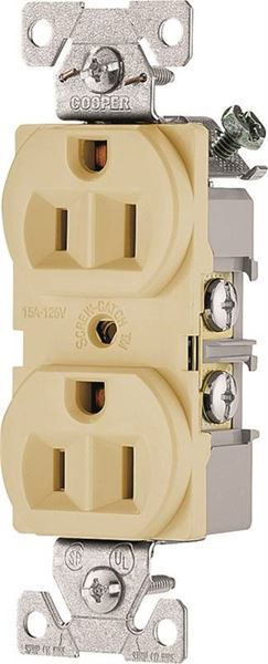 commercial wiring rough in eaton commercial grade  straight blade duplex receptacle  125 v  straight blade duplex receptacle