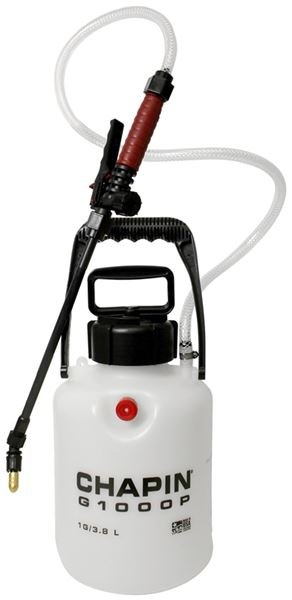 Chapin G1000P Garden Sprayer With Pressure Relief Valve, 40 - 60 psi, 1  gal, Durable Poly Tank, Poly/Brass Nozzle, Poly