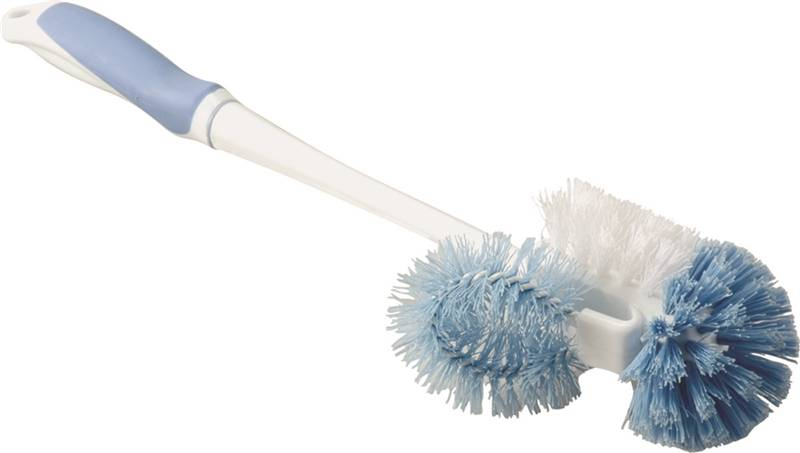 Homebasix MYY11-3L Toilet Bowl Brush With Stand Satin Stainless Steel