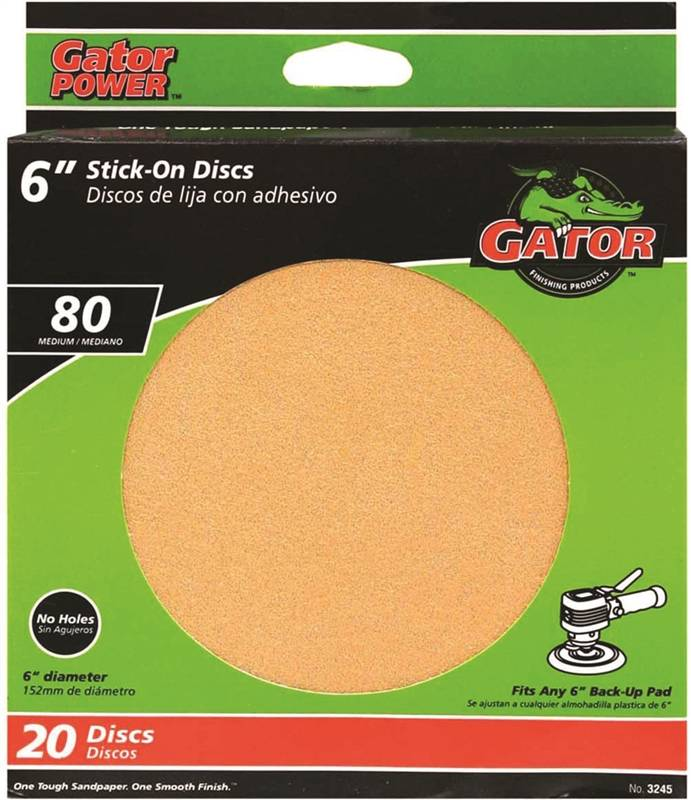 6in Gold Stick-On Disc 180# Ali Industries 3242