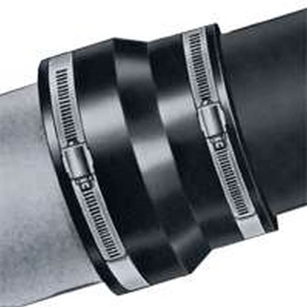 Fernco 1003 Flexible Pipe Coupling, 4 in x 3 927 in, Clay X
