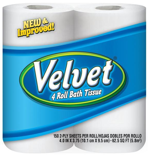Velvet 096071 Bathroom Tissue 2 Ply 150 Roll 24 Pack Vorg9889775 Tc5792a1
