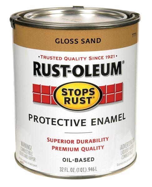Rust Oleum Oil Based Protective Enamel Sand Gloss 1 Qt
