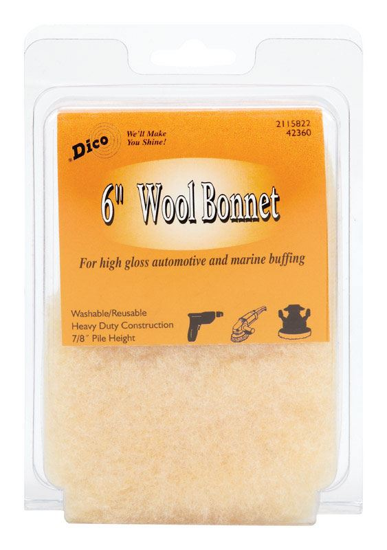 Polishing Bonnet Dia Dico  6 in