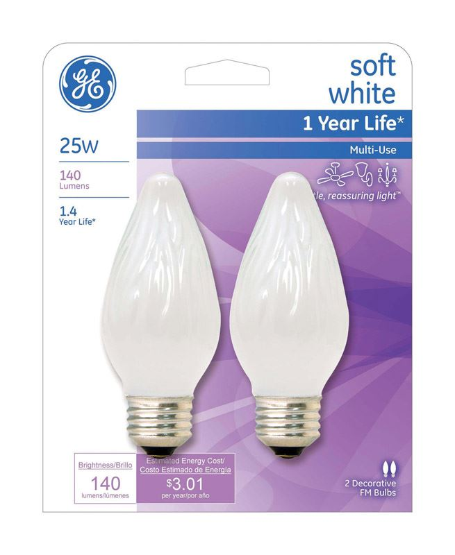 F15 Incandescent Light Bulb GE LIGHTING 25W
