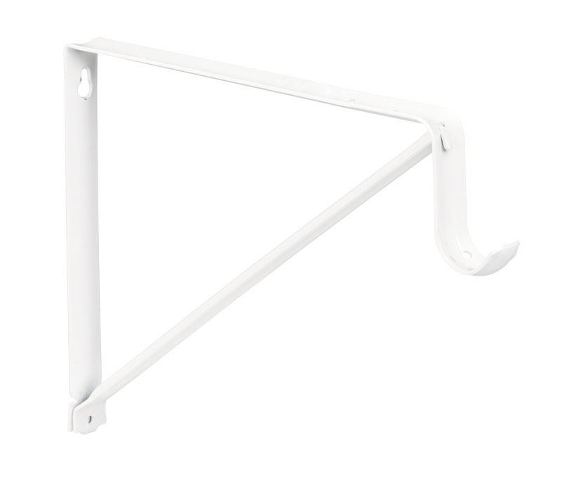 Knape /& Vogt  White  Steel  Bracket  16 Ga 12-1//2 in L 225 lb.