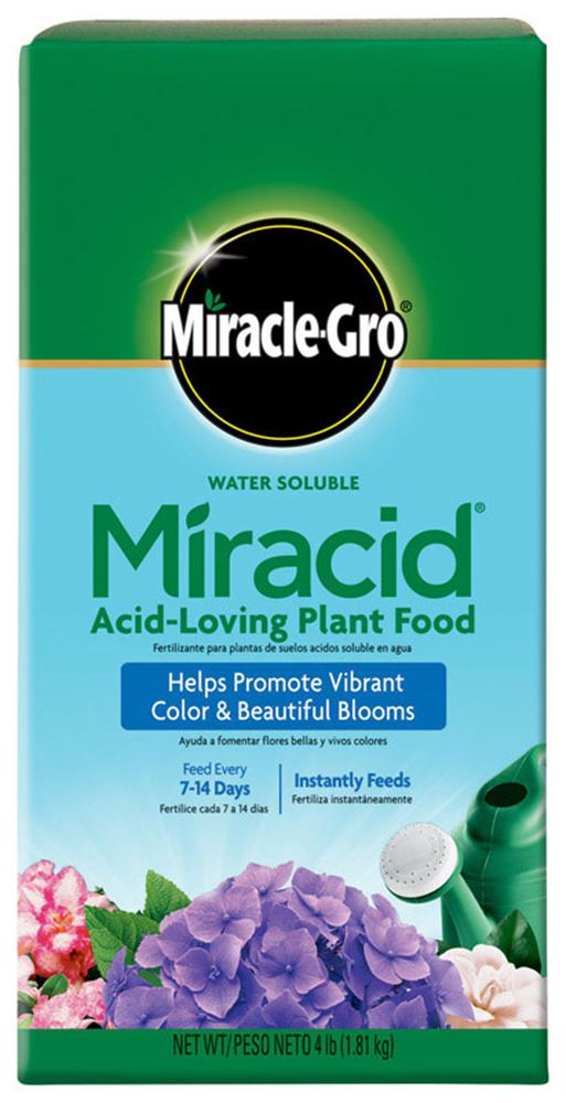 Miracle Gro Miracid Plant Food For Acid Loving Plants 4 Lb