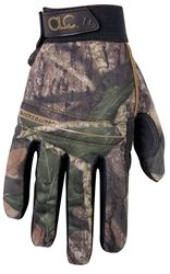 Backcountry Sportsman High Dexterity Work Gloves, X-Large, 96% Polyester Shell/4% Spandex Back, Mossy Oak Camo