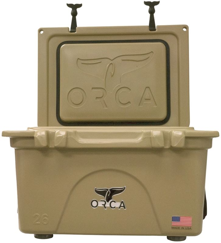 ORCA ORCT026 Roto-Molded Cooler, 26 qt, Up To 10 Days Ice Retention Time, Integrated Insulation, 23-3/4 in L, Tan