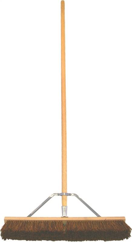 Birdwell Cleaning 5024-4 Contractor Push Broom, 24 x 2-5/8 x 7/8 in, Natural Palmyra Fiber 4 Pack