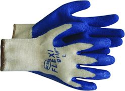 Flex Grip 8426X Ergonomic Protective Gloves, X-Large, Poly/Cotton Back, White/Red, Unlined Lining