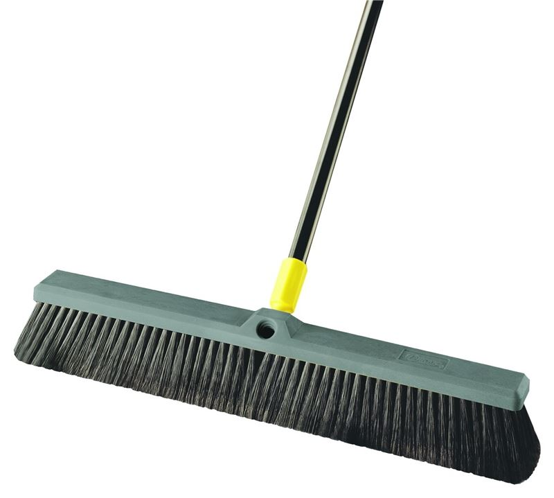 Quickie 00533 Multi-Sweep Push Broom, Black Polypropylene Fiber Bristle, Resin Block, 15/16 in Dia x 60 in L