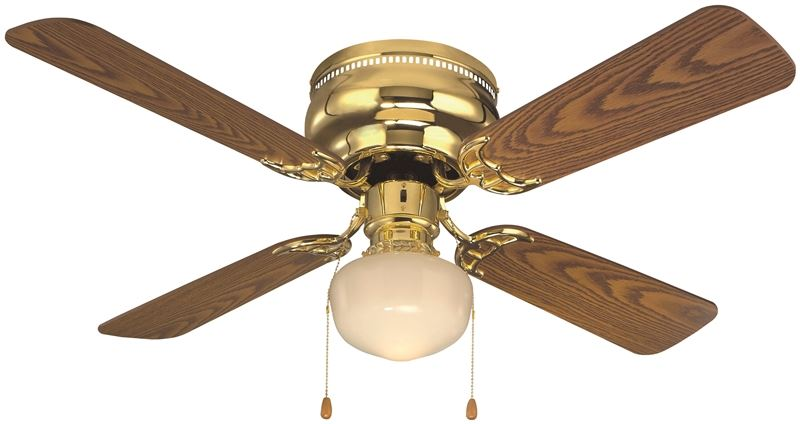 Boston Harbor 430686 Ceiling Fan Light Kit, 1 CFL Lamp, 13 W Lamp, Polished Brass, 13 in H x 42 in W