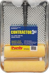 Purdy Contractor 1st 140810200 Roller and Tray Kit, Yellow