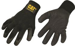 Cat Diesel Power CAT017400L Protective Gloves, Large, Poly Cotton Back, Black