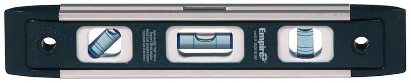 True Blue EM81 Magnetic Torpedo Level, 0.0005 in 9 in L, Aluminum