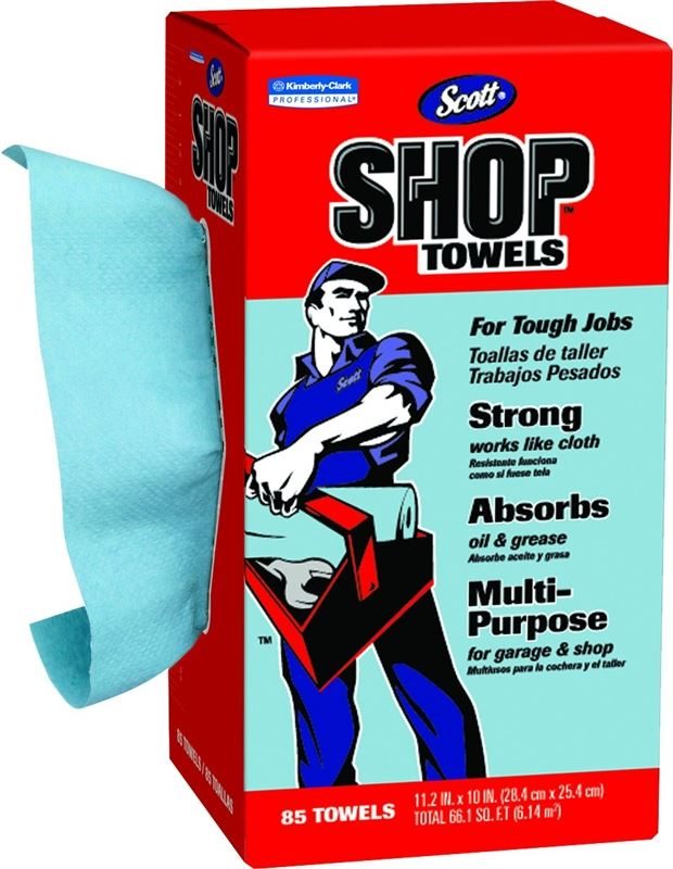 Scott In-A-Box Shop Towel, 11 X 10.4 in, Blue
