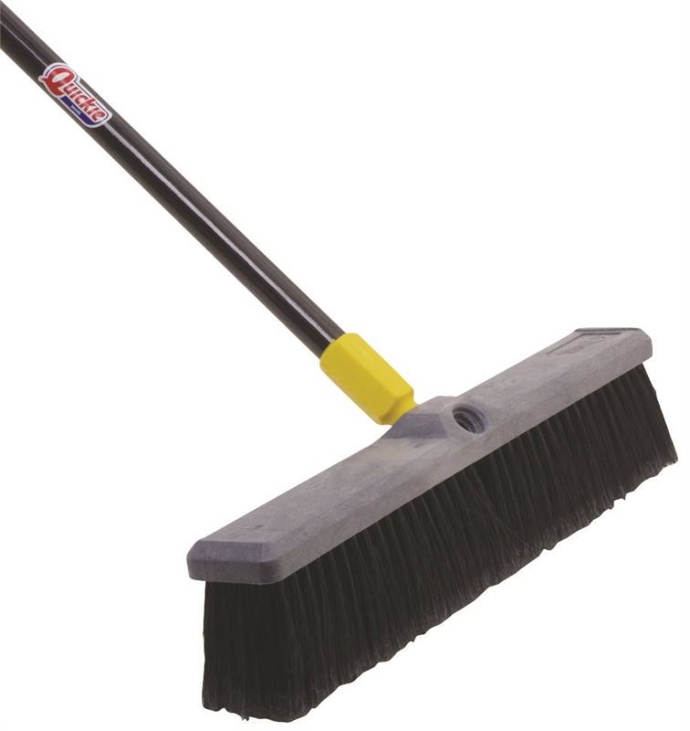 Quickie 523ZQK Multi-Sweep Push Broom, Black Polypropylene Fiber Bristle, Resin Block, 15/16 in Dia x 60 in L