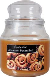 CANDLE-LITE 3827549 Jar Candle, Caramel Brown 6 Pack