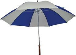 Homebasix TF-06 Golf Umbrella, 29 in Dia, Nylon, Royal/White