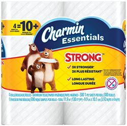 CHARMIN 96891 Gaint Roll Soft Bathroom Tissue, 1 Ply, White 10 Pack