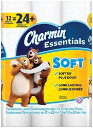CHARMIN 96604 Double Roll Soft Bathroom Tissue, 2 Ply, White 4 Pack