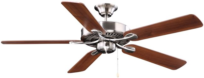 Boston Harbor 1100668 Ceiling Fan, 120 VAC, 60 Hz, Brushed Nickel Housing, 1/2 in Dia x 4 in L Down Rod, 3 Speeds