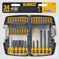 Dewalt DW2153 Impact Duty Screwdriver Bit Set, 34 Pieces