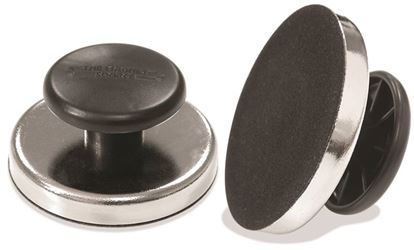 Master Magnetics 07505 Round Document Holding Magnet With Knob, 2-5/8 in Dia X 1-1/4 in H, 25 lb