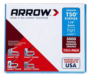 Arrow 504IP ProPack Staple, Flat, 1/4 in Leg