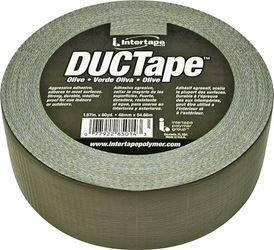 Intertape 20C-OD2 Duct Tape, 1.87 in W x 60 yd L, Poly Coated Cloth Backing, Olive, Utility