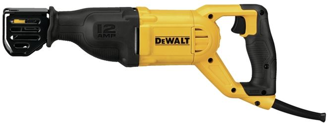 DeWalt DWE305 Heavy Duty Reciprocating Saw, 120 V, 12 A, 1-1/8 in Stroke, 0 - 2900 spm