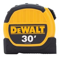 DeWALT DWHT36109 Tape Measure, 30 ft L x 1-1/8 in W Blade, Steel Blade, Black/Yellow